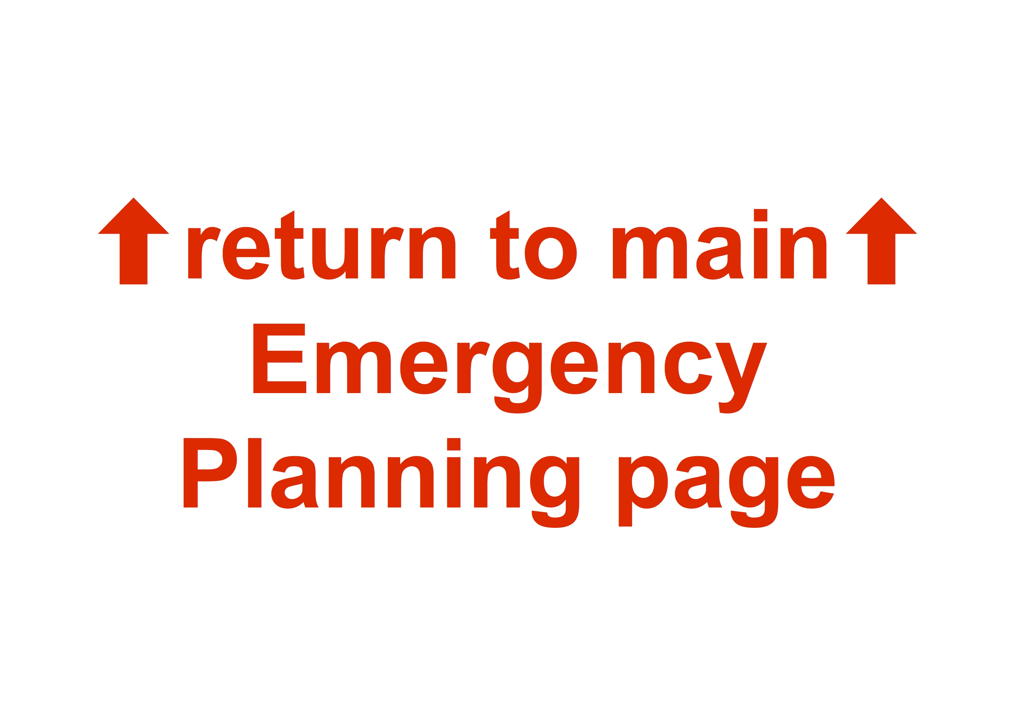 click here to return to the main «Emergency Planning» page