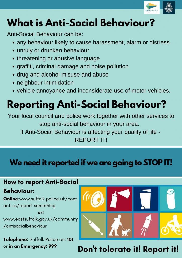 ASB Reporting Promotion anti social behaviour