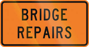 Bridge repairs, 3rd to 7th August