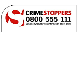 Click to visit Crimestoppers: you can call them anonymously with information about crime on 0800 555 111.