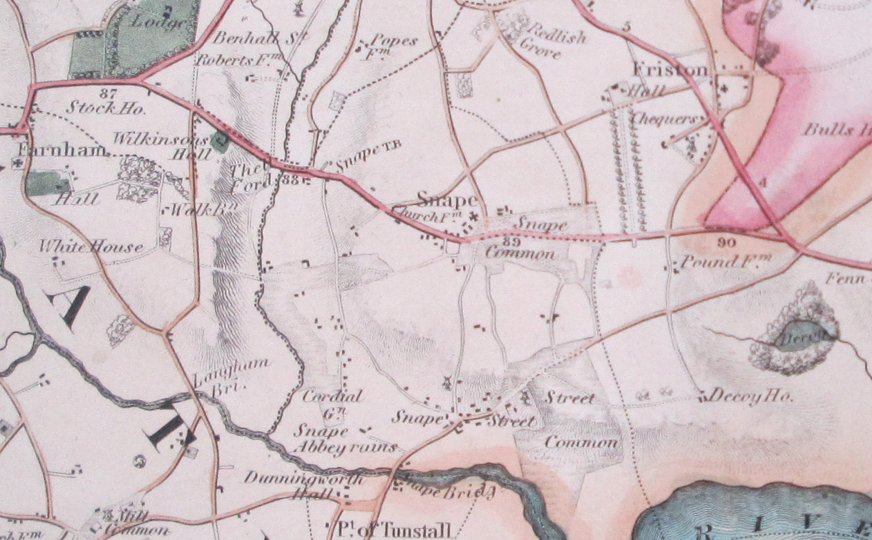 map of Snape in 1824