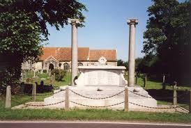 photo of Snape war memorial, used as a link across to our webpage called «War Memorials, 1914-1919